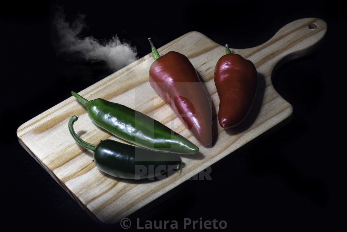 """Fiery Smoky Chilli"" stock image"