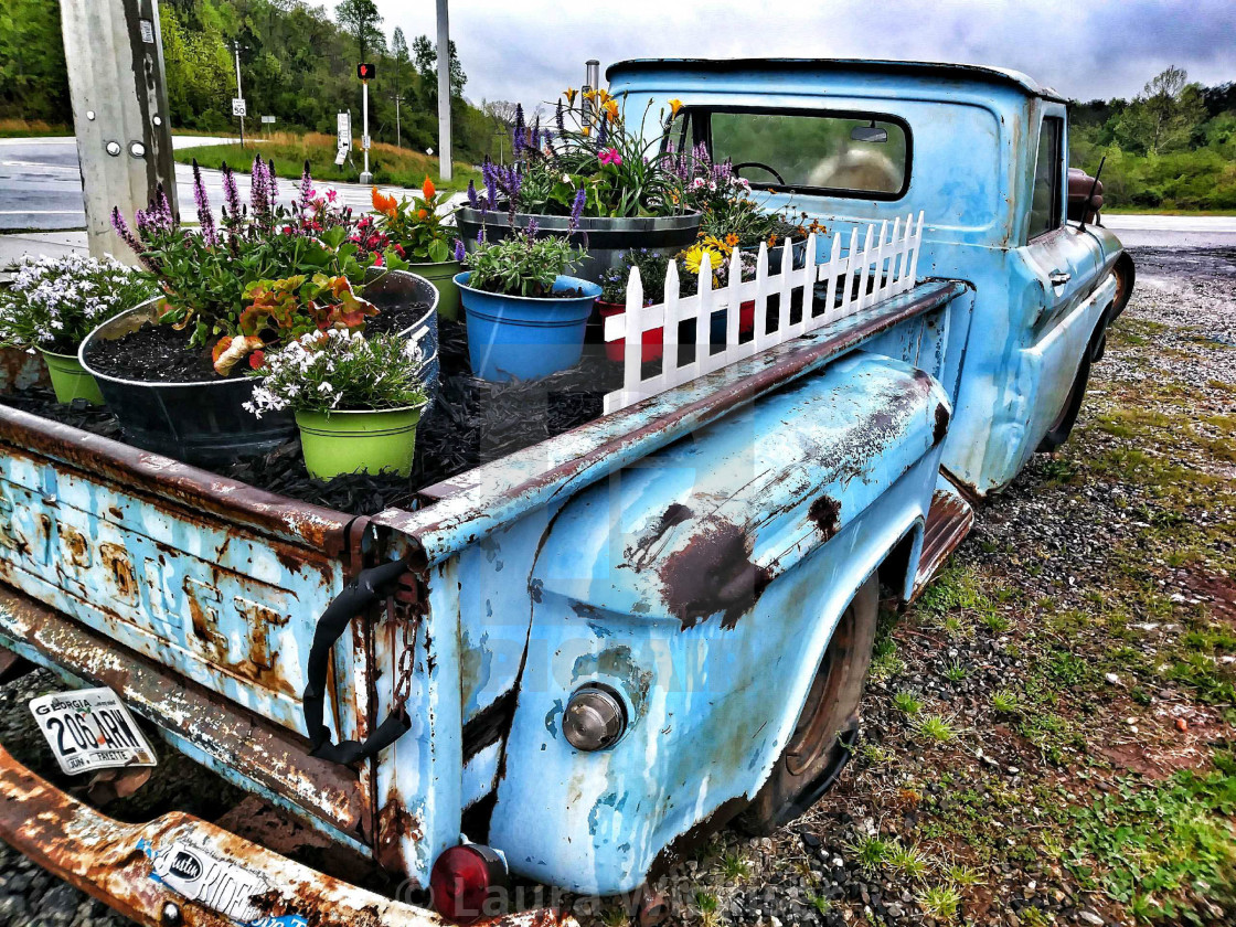 """Blue truck"" stock image"