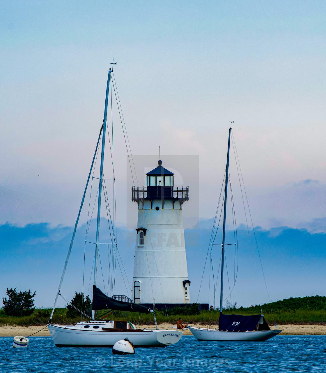 """Edgartown Lighthouse"" stock image"