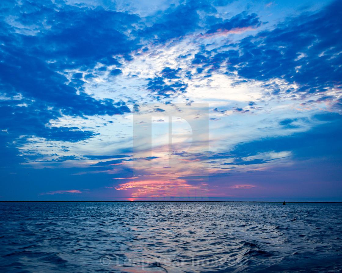 """Sunset Nantucket Sound"" stock image"