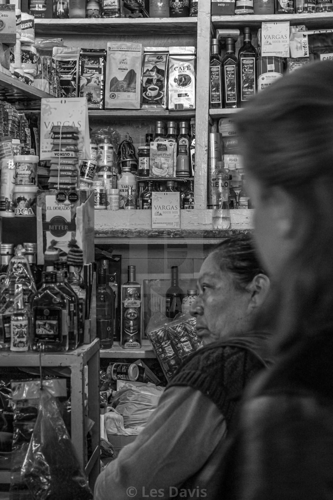 """""""Market Seller, Peru"""" stock image"""