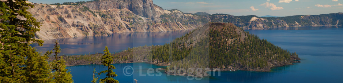 """Crater Lake Panorama"" stock image"