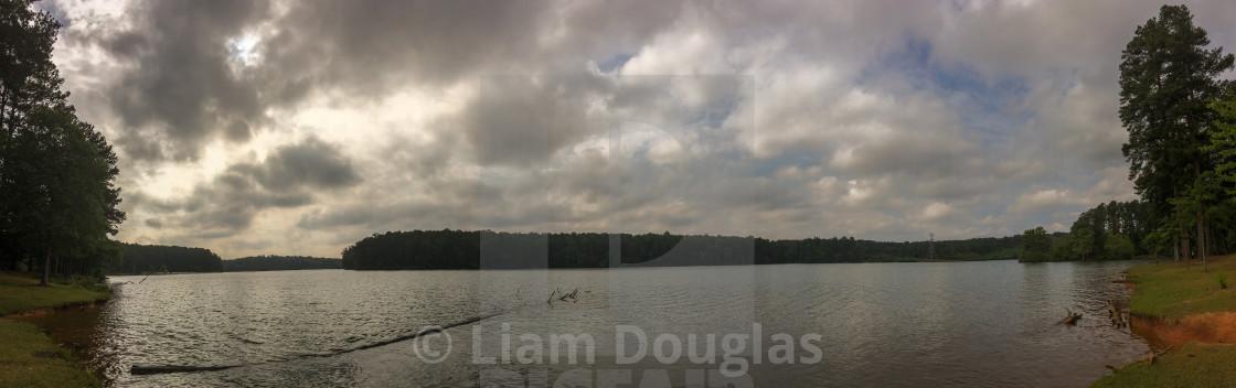"""Panorama of The Lake at Ft Yargo"" stock image"