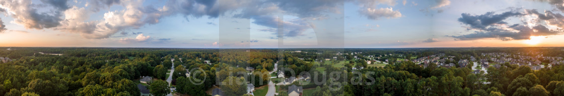 """180 Panorama of Loganville, Ga"" stock image"