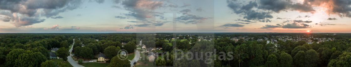 """360 Degree Panorama of Loganville, Ga"" stock image"