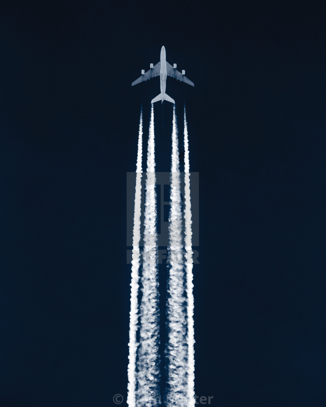 """Airplane in the sky"" stock image"