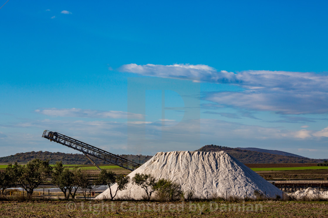 """Pile of salt, salt-pans, Greece"" stock image"