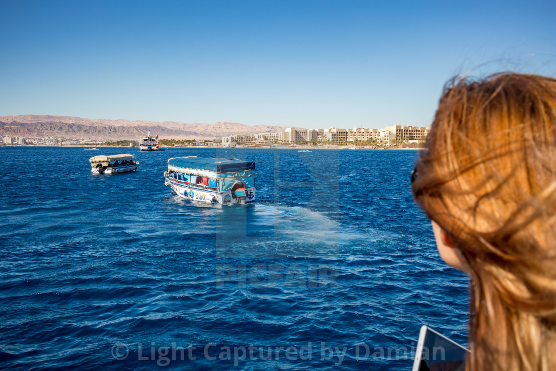 """Aqaba, Jordan, glass boat tours"" stock image"
