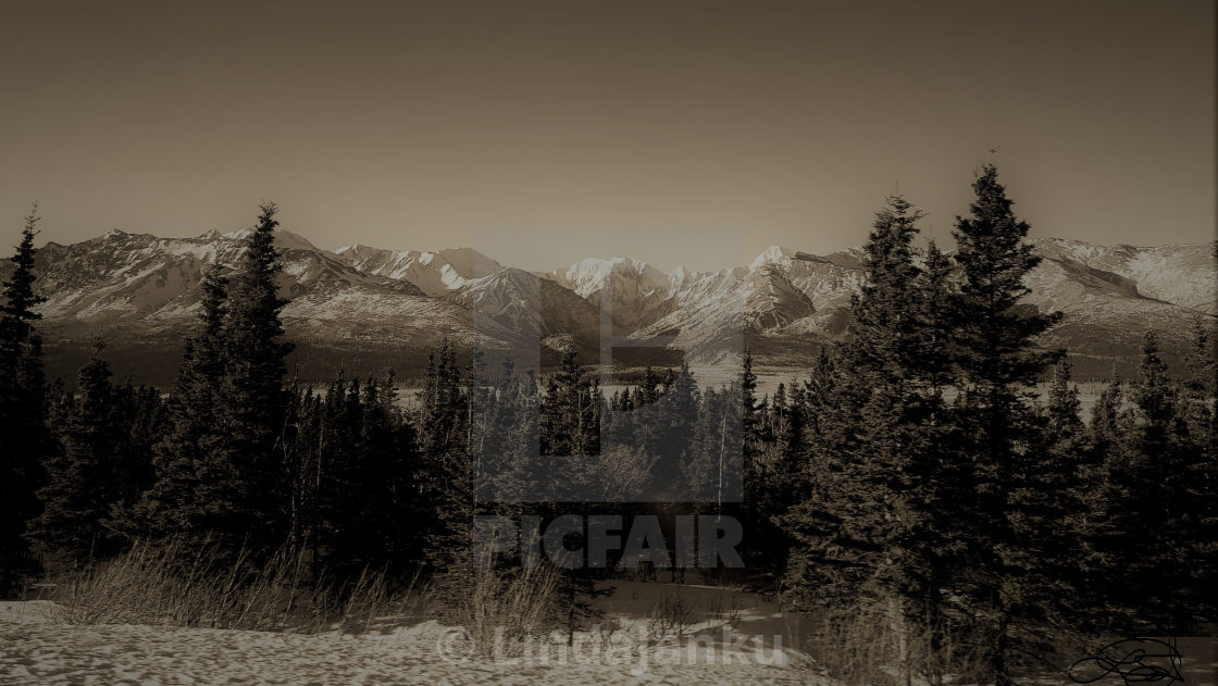 """""""The Mountains are Calling"""" stock image"""