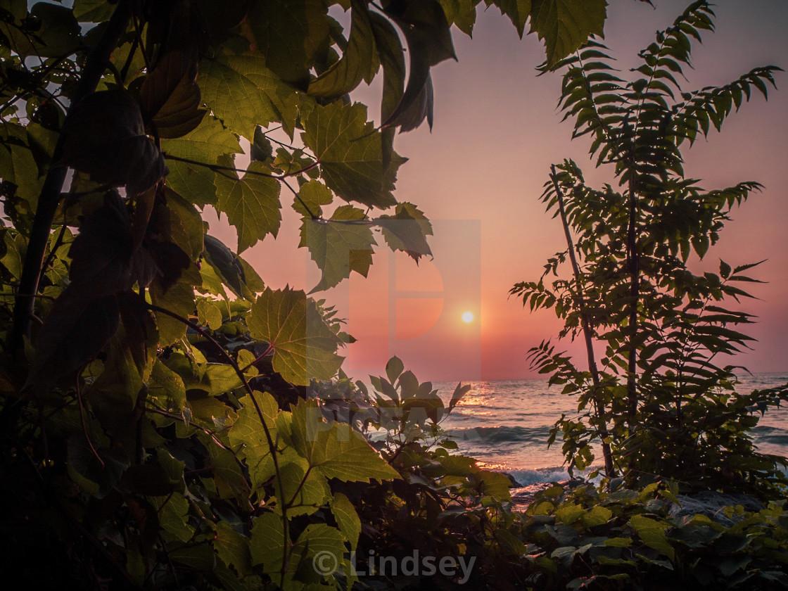 """Smoky Sunrise"" stock image"