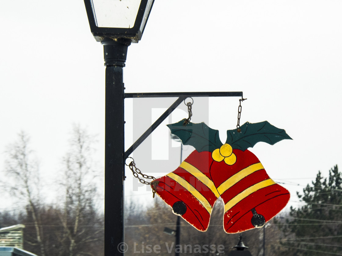 """Decorations in the village street."" stock image"
