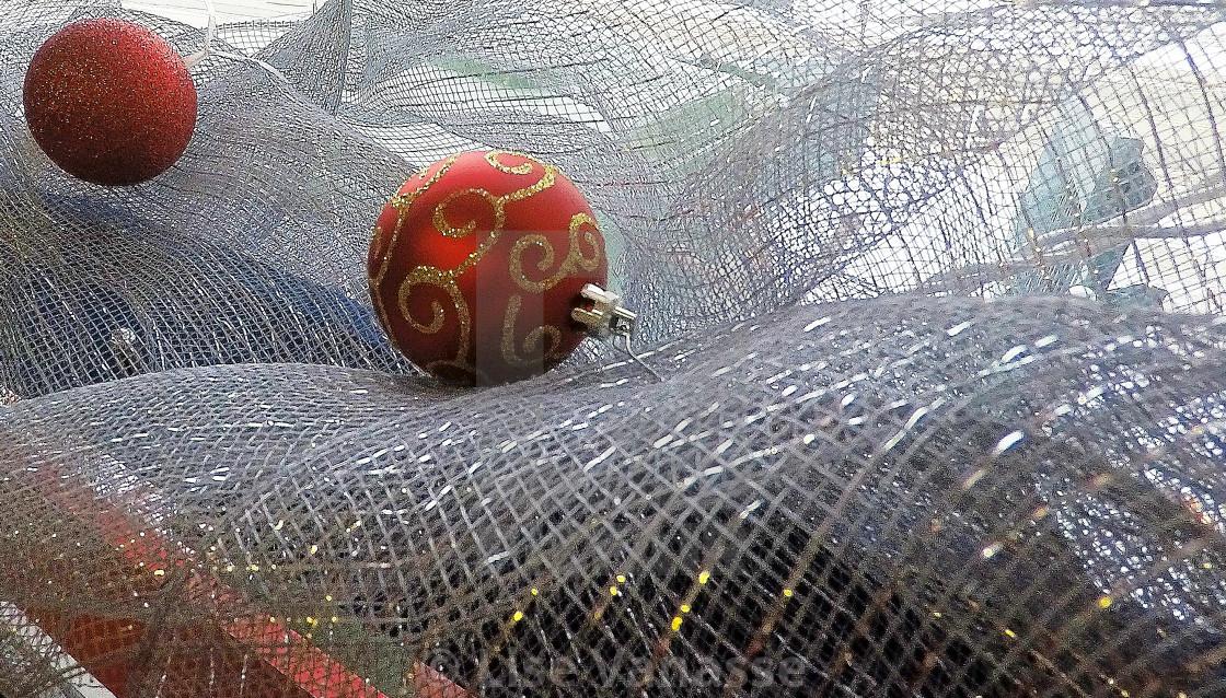 """""""A Christmas ball on a wave."""" stock image"""