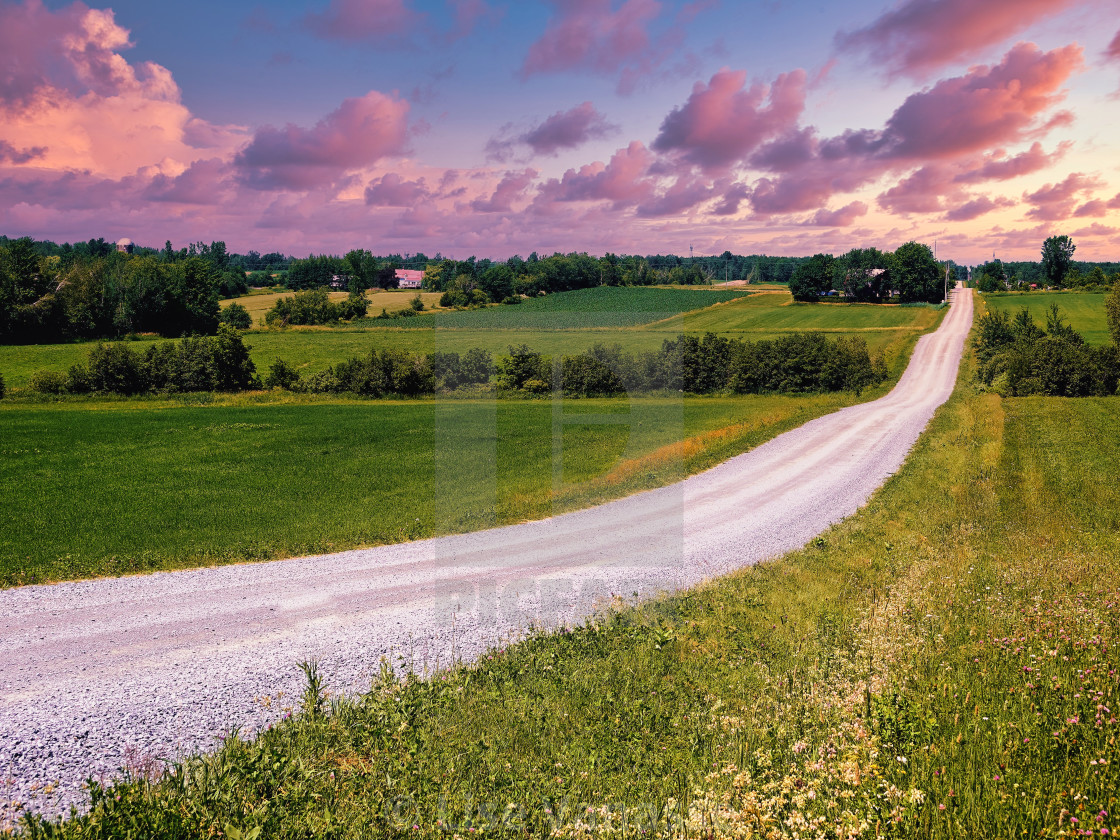 """An endless sandy road."" stock image"