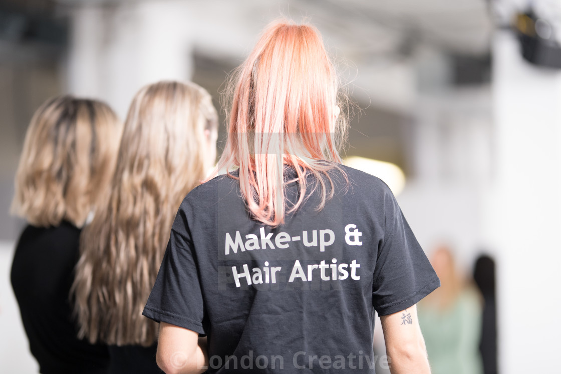 """""""Fashion Scout AW20 Backstage"""" stock image"""