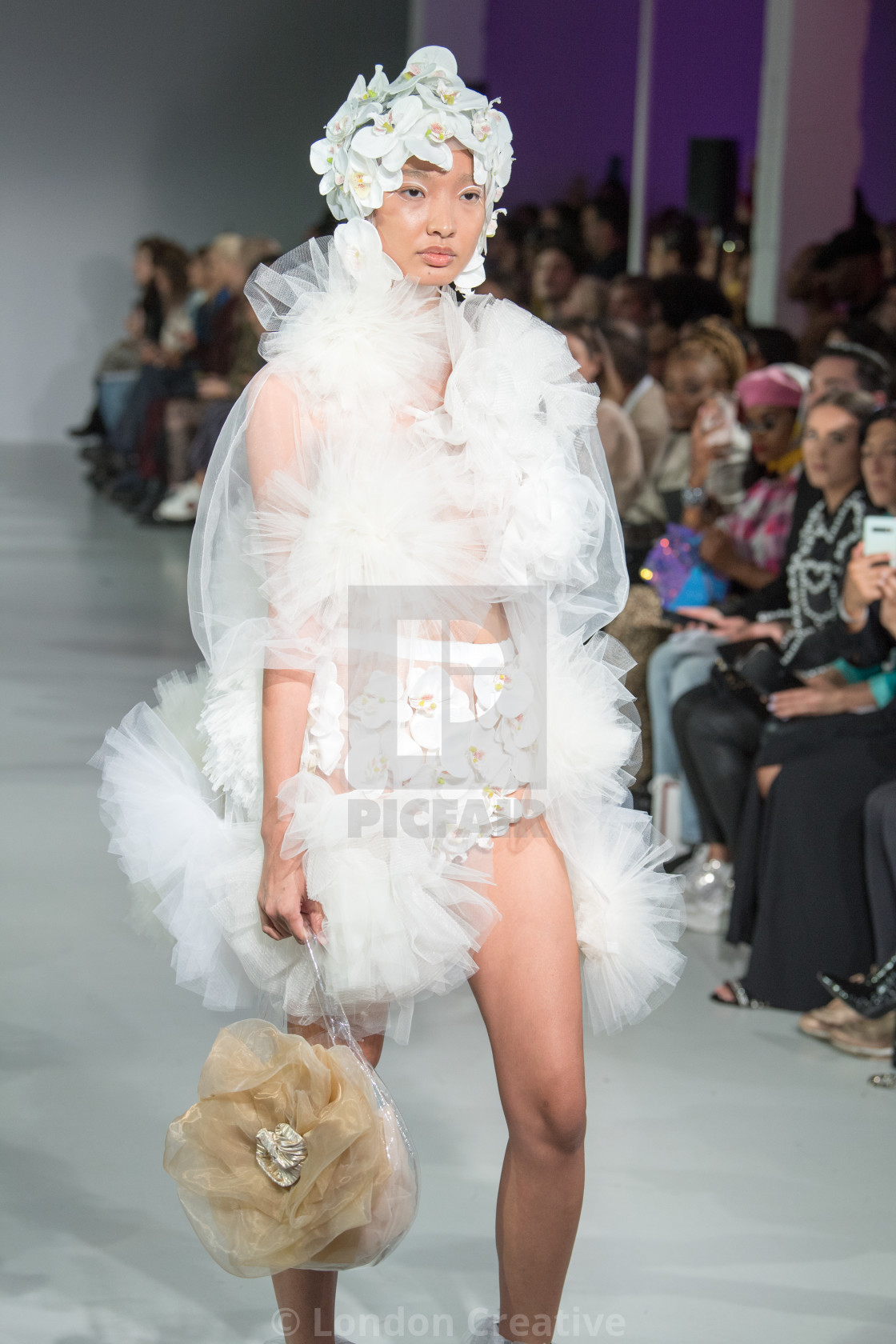 """""""Emilia A. Walls I Love Four Seasons collection at Fashion Scout Spring/Summer..."""" stock image"""