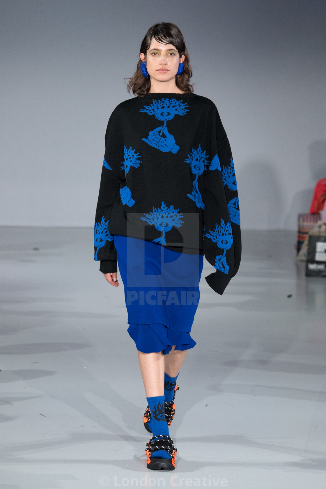 """""""Pat Guzik Catwalk Show at Fashion Scout's """"Ones to Watch"""" during London..."""" stock image"""
