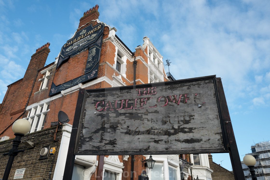 """""""The derelict historic Cauliflower Pub & Gin Palace in Ilford"""" stock image"""