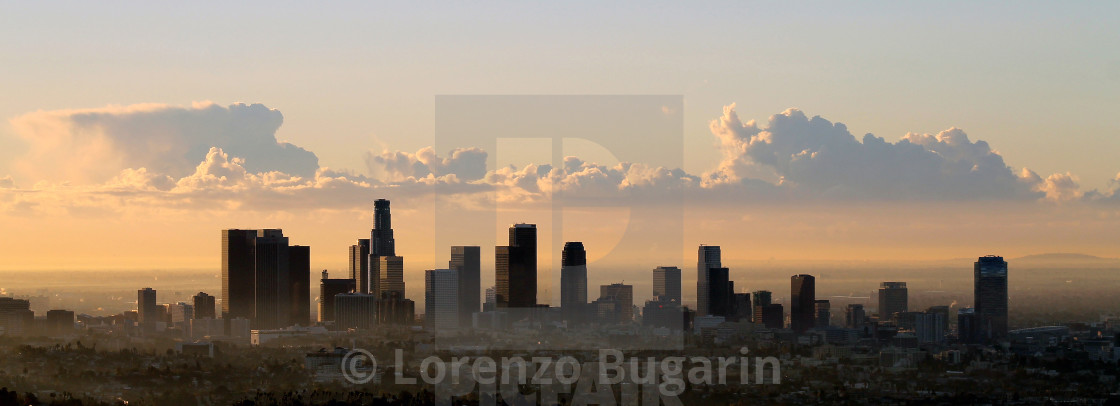 """""""Dawn In The City Of The Angeles"""" stock image"""