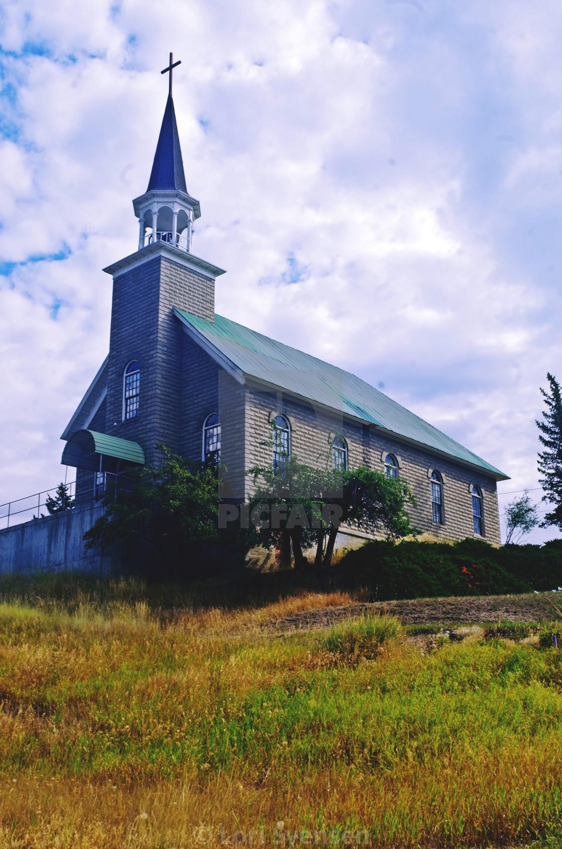 """Immaculate Conception Church - Republic, Washington"" stock image"