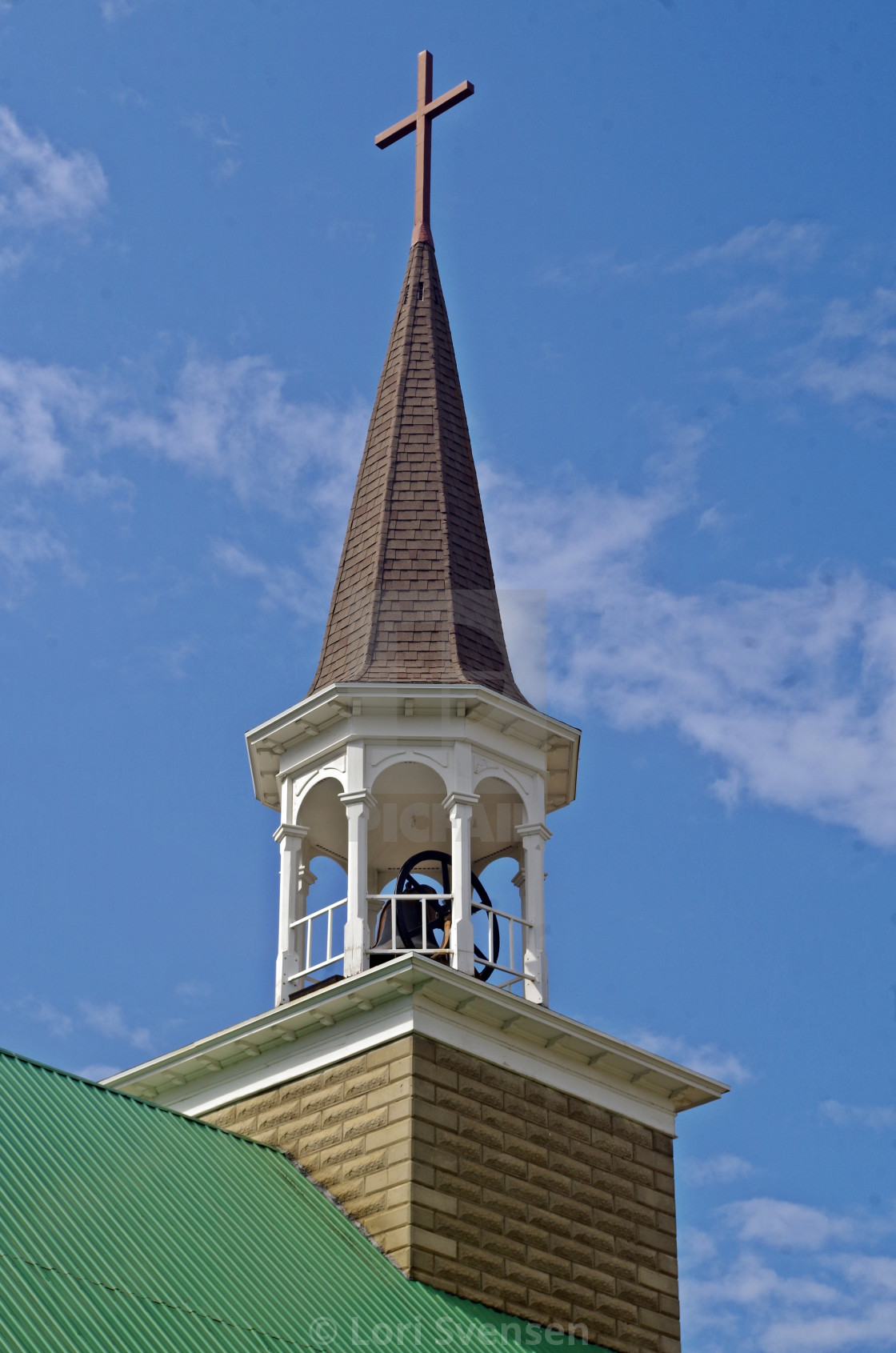 """""""Immaculate Conception Steeple Republic"""" stock image"""