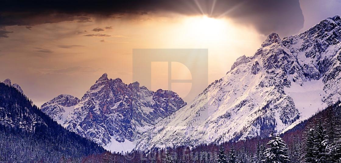 """Italy, Dolomites of Sesto"" stock image"