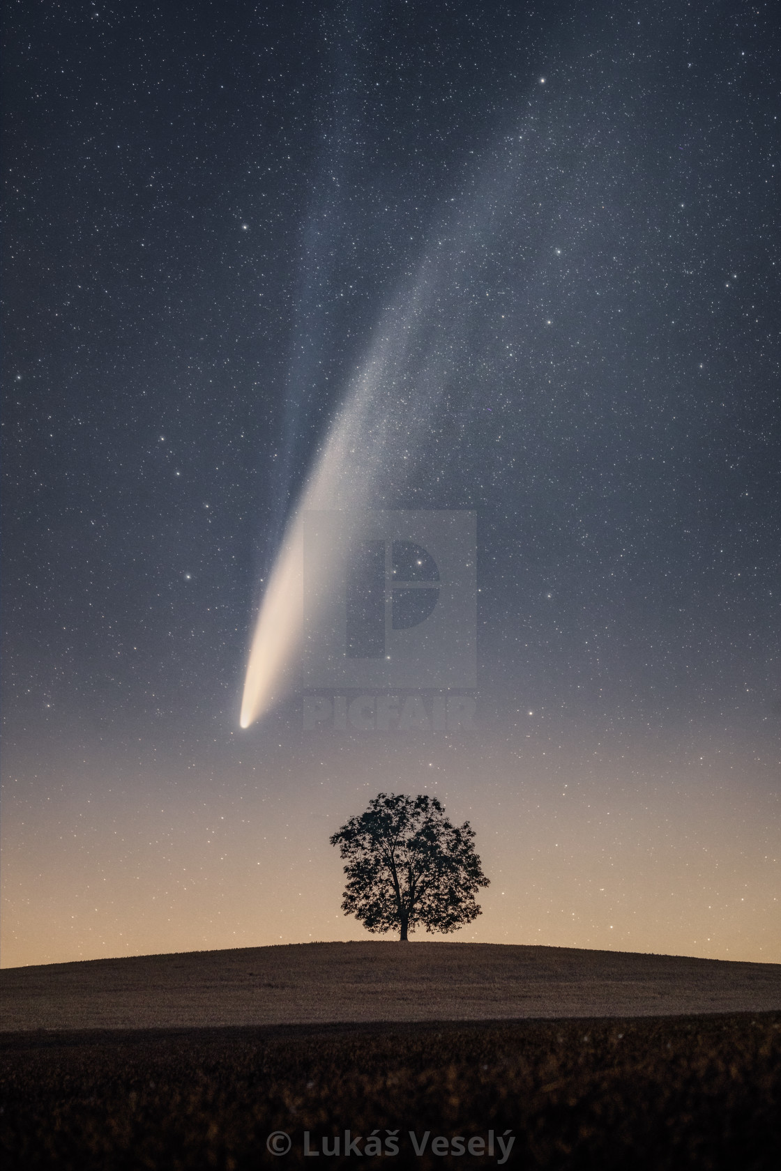 """Comet Neowise"" stock image"