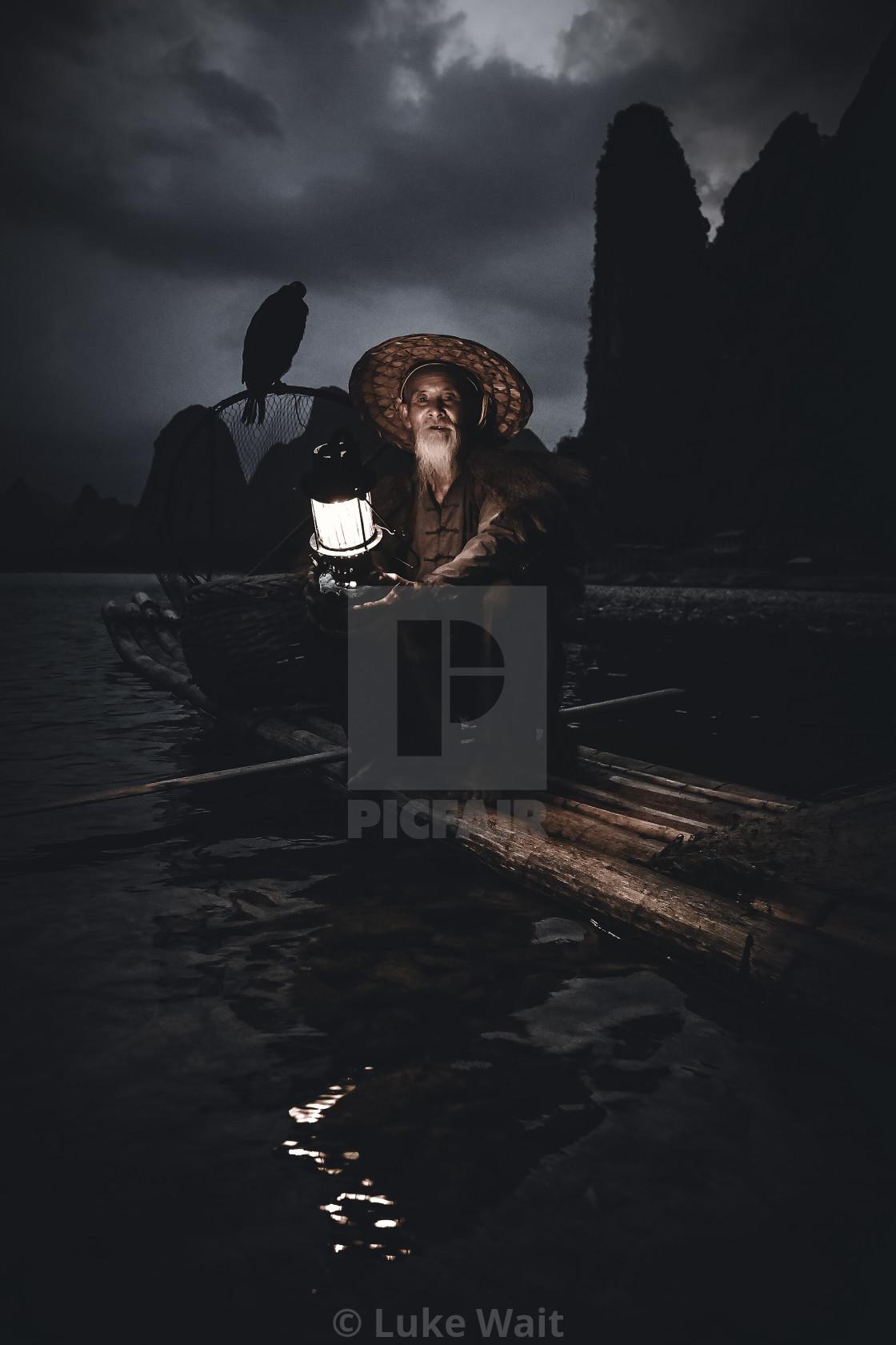 """Cormorant Fisherman - The Ancient Art"" stock image"