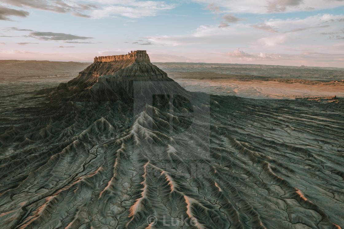 """""""Factory Butte, Utah"""" stock image"""