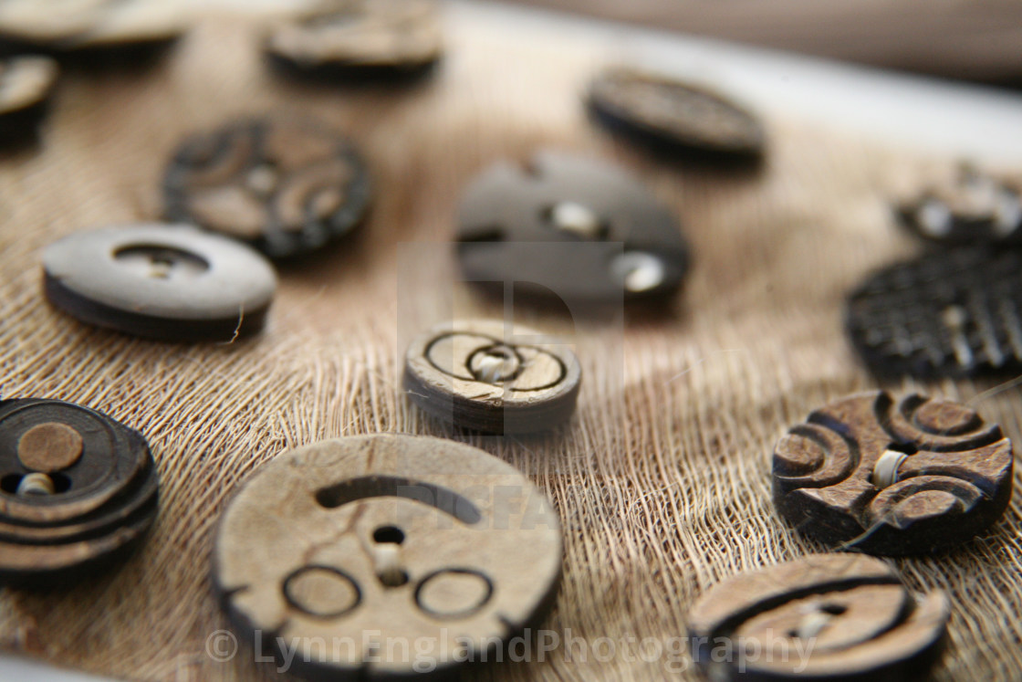 """""""Beloved Buttons"""" stock image"""