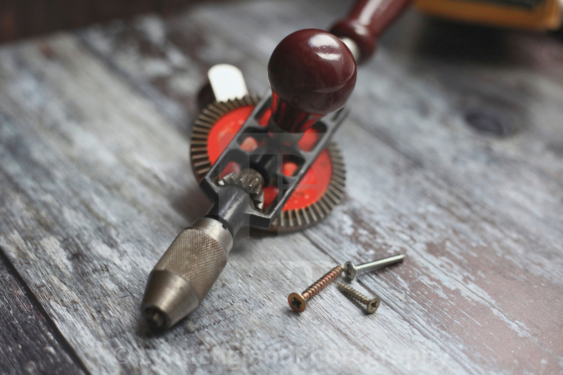 """""""Vintage Stanley hand drill"""" stock image"""