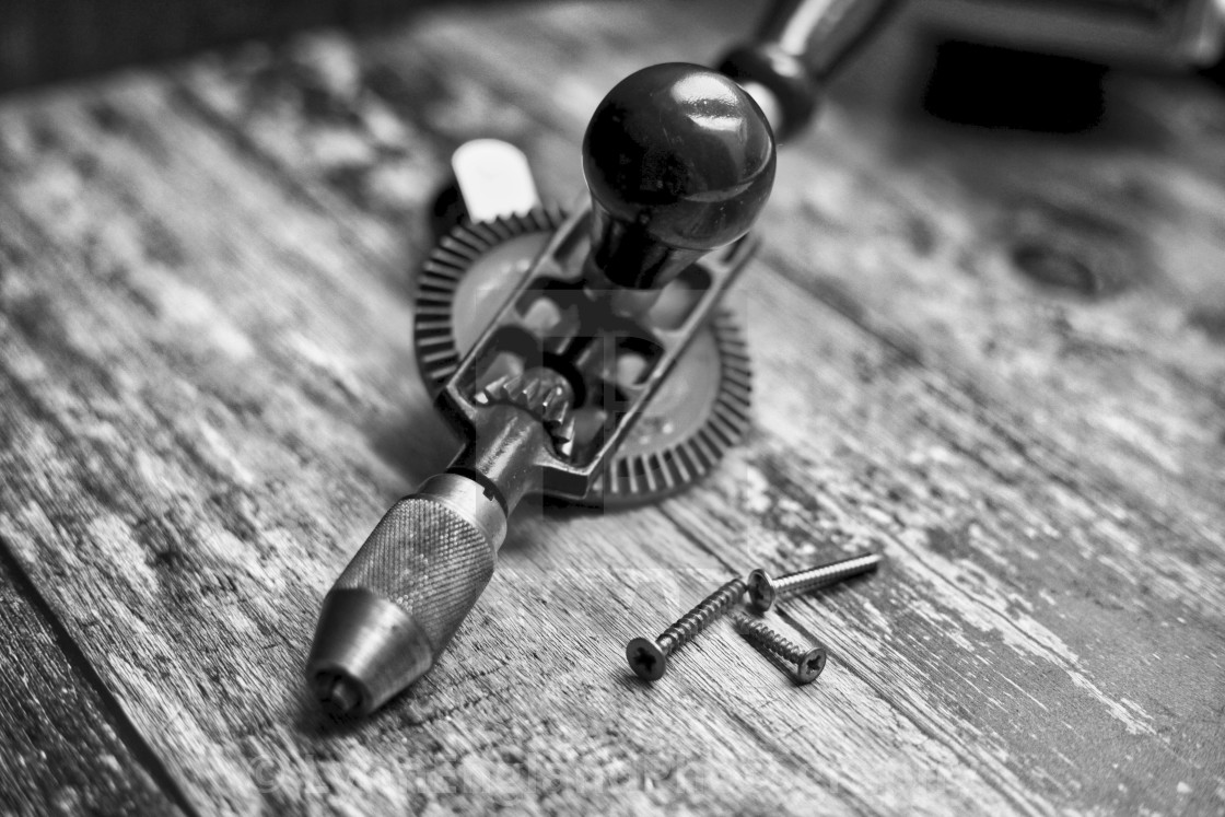 """""""Vintage hand drill"""" stock image"""