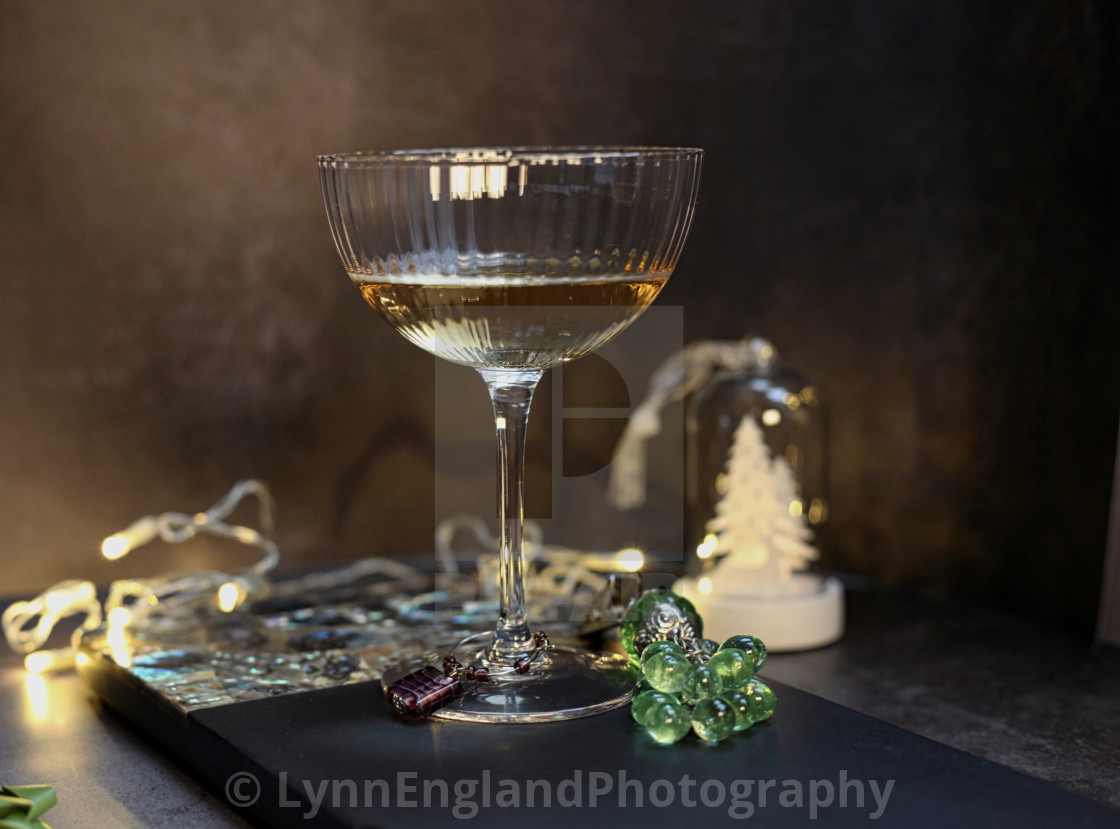 """""""Fluted Champagne glass"""" stock image"""