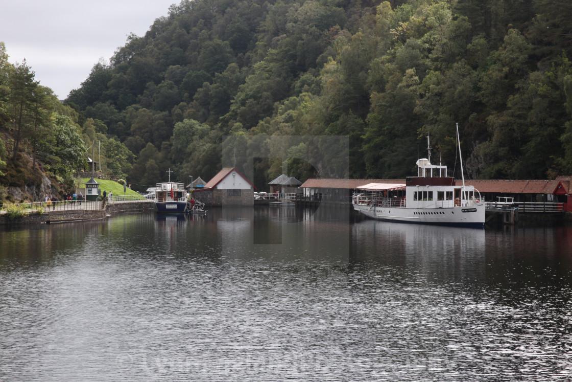 """Trossachs Pier, Loch Katrine"" stock image"