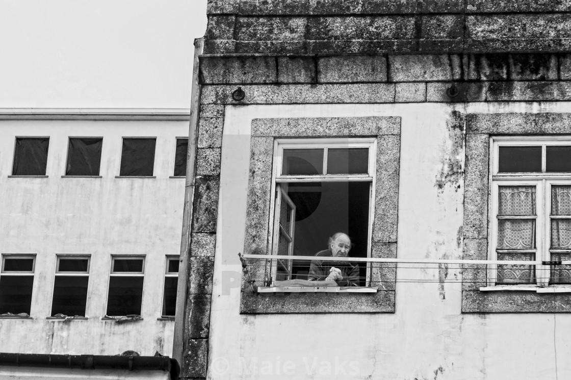"""Street view in Porto"" stock image"