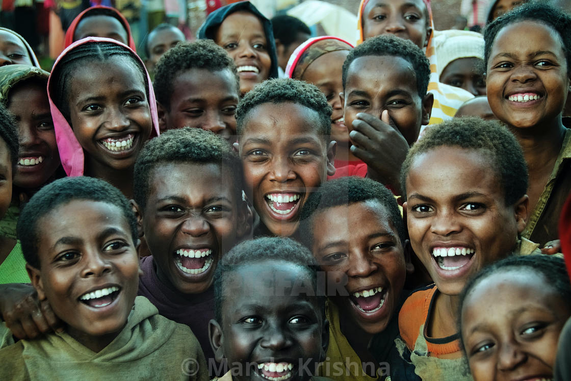 """Children laughing"" stock image"