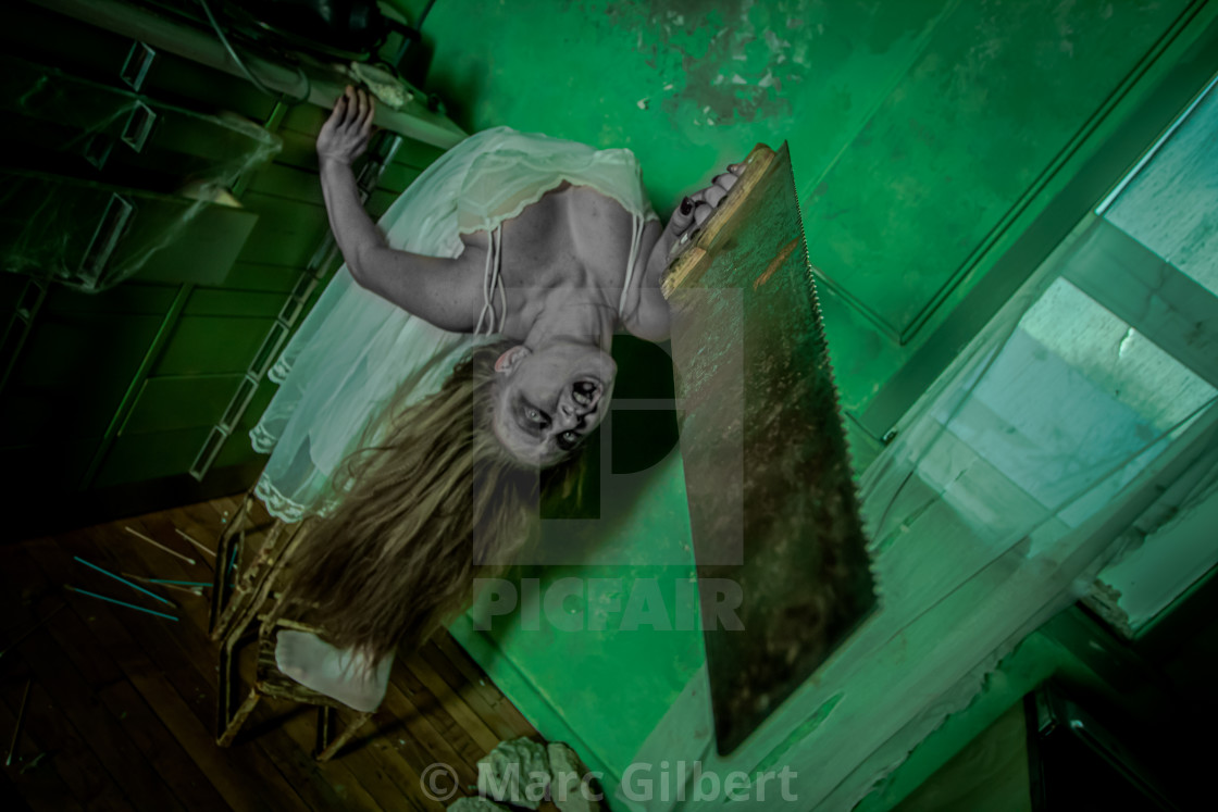 """""""Poltergeist with saw"""" stock image"""