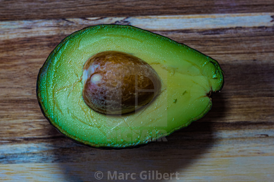 """Avocado half"" stock image"