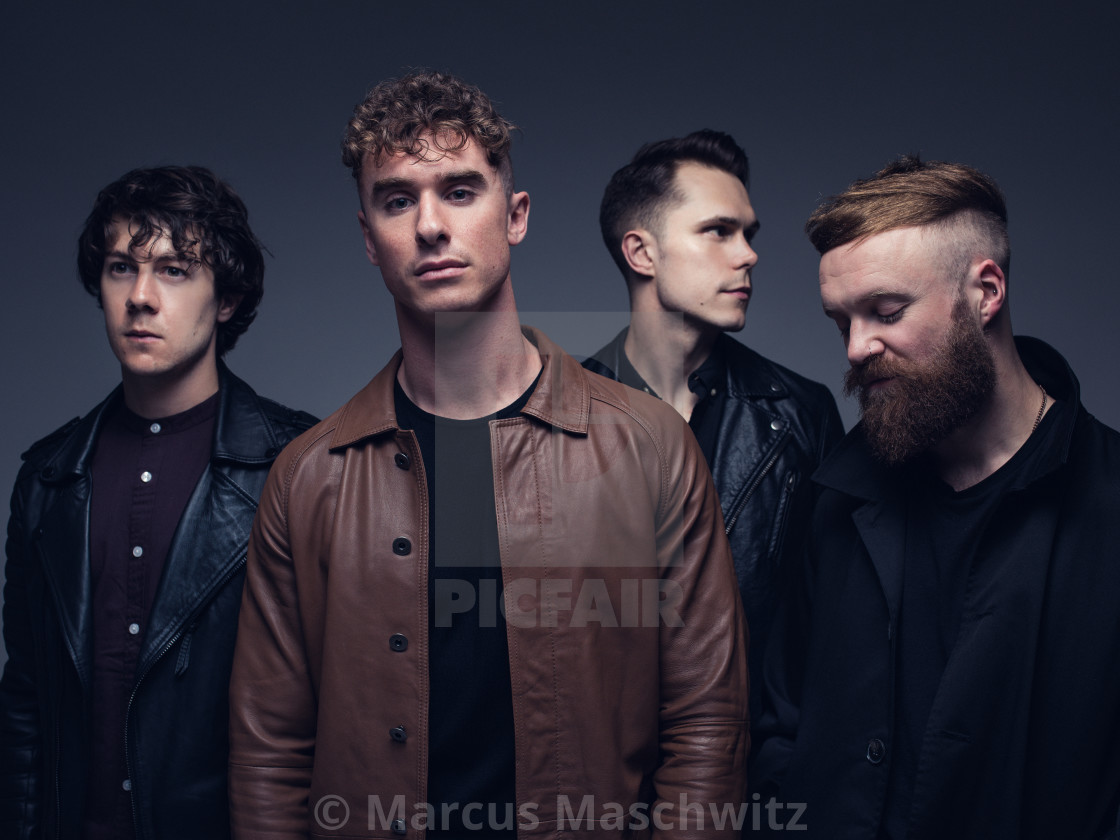 """Don Broco - Studio portrait"" stock image"
