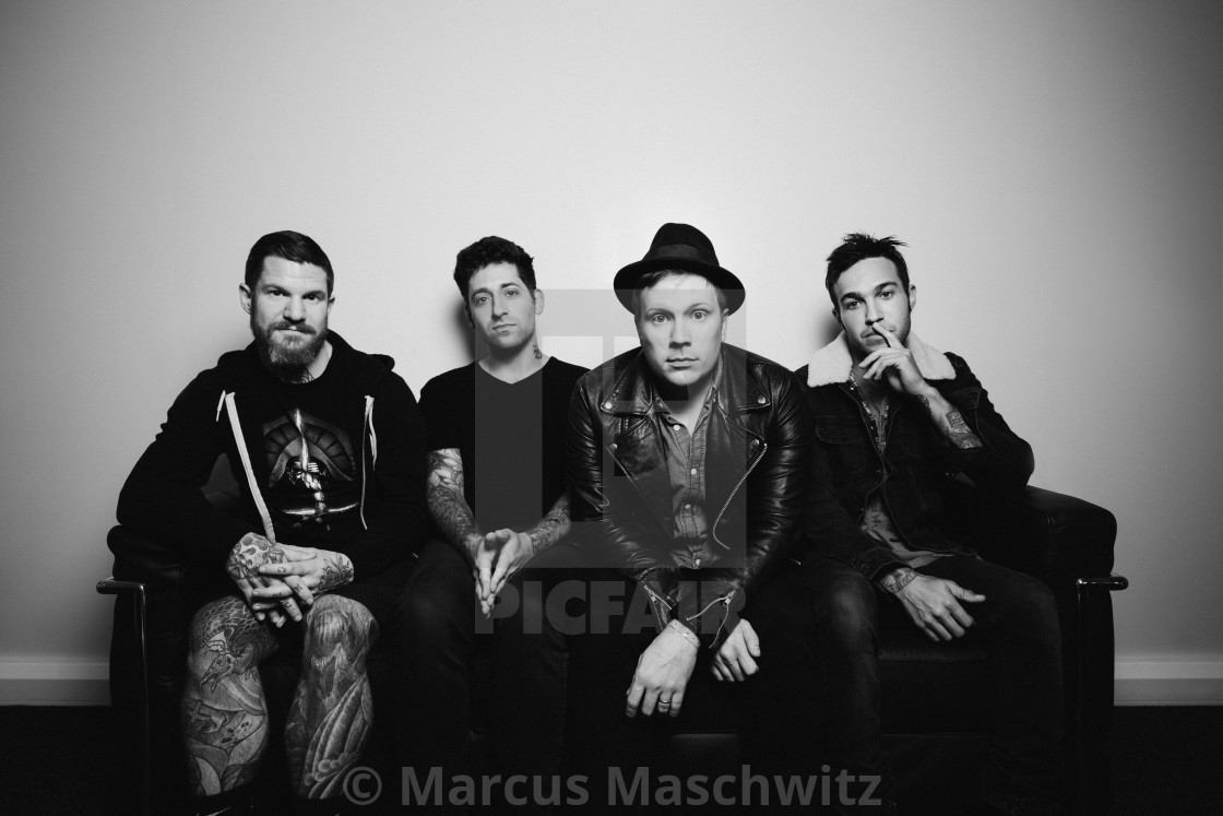"""""""Fall Out Boy portrait"""" stock image"""