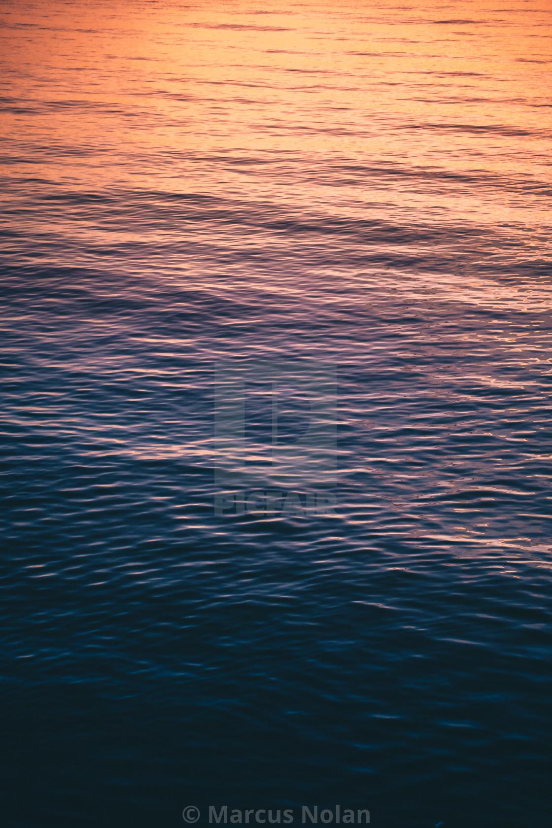 """Sun Hitting the Sea at Galway Bay"" stock image"