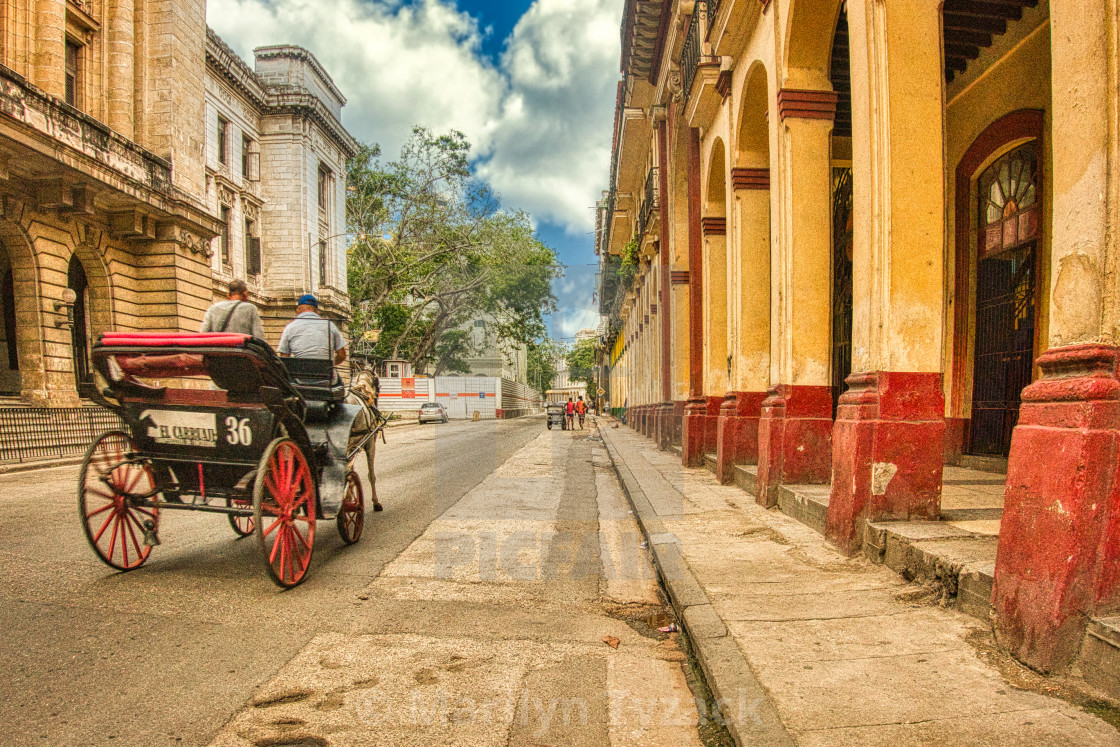 """Riding along a Havana street"" stock image"