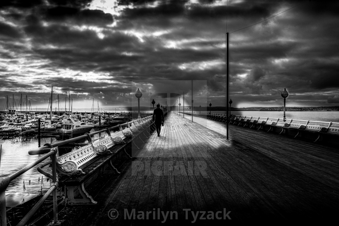 """Man on the Pier"" stock image"