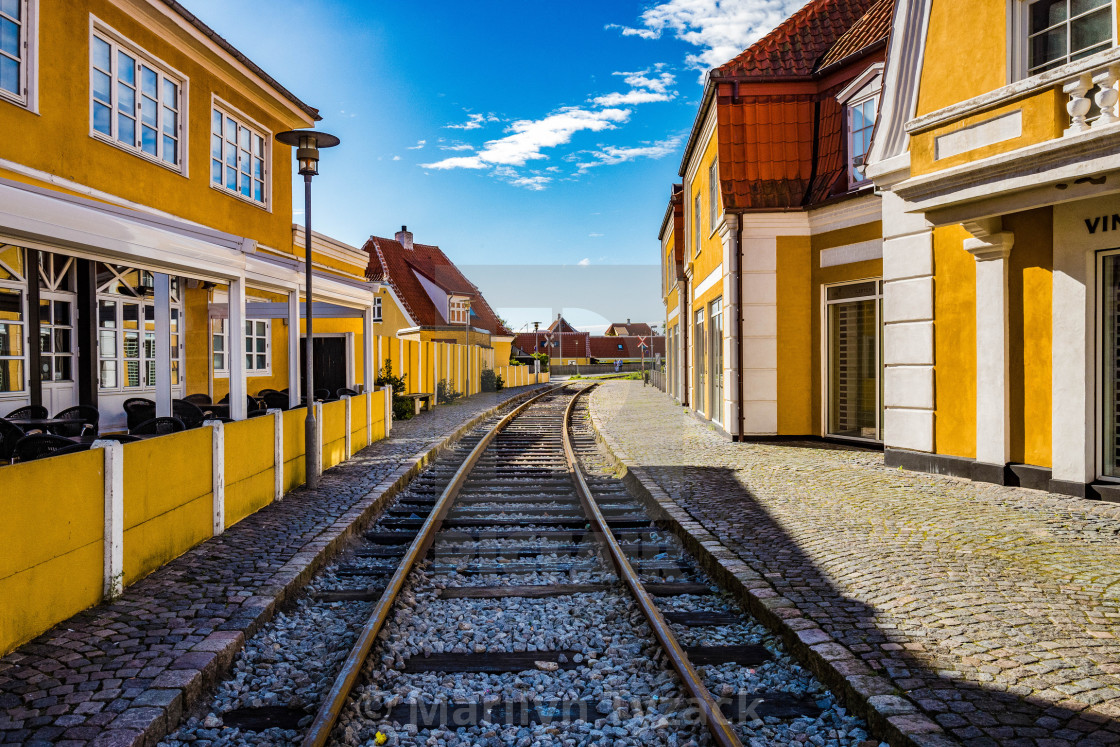 """""""The Painted Railway"""" stock image"""