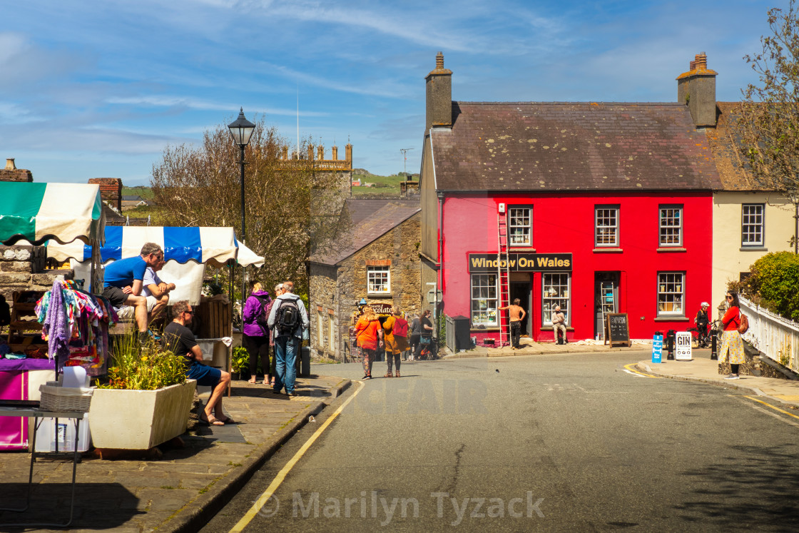 """""""Welsh market town"""" stock image"""