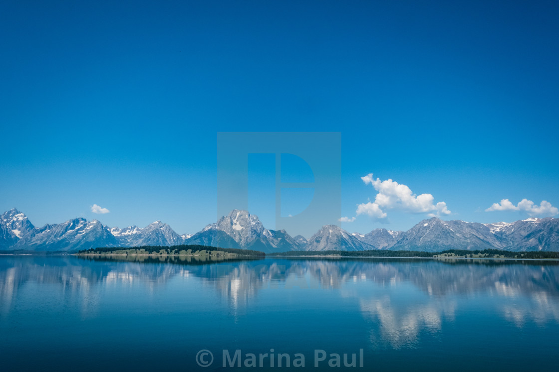 """Great Tetons Mountains"" stock image"