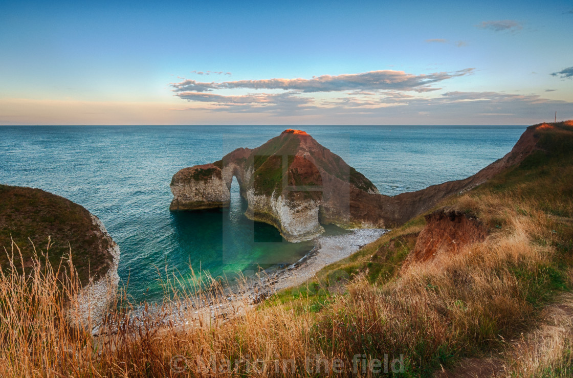 """Dinosaur Cliff in Flamborough Head"" stock image"