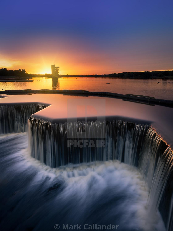 """Strathclyde Park Sunset"" stock image"