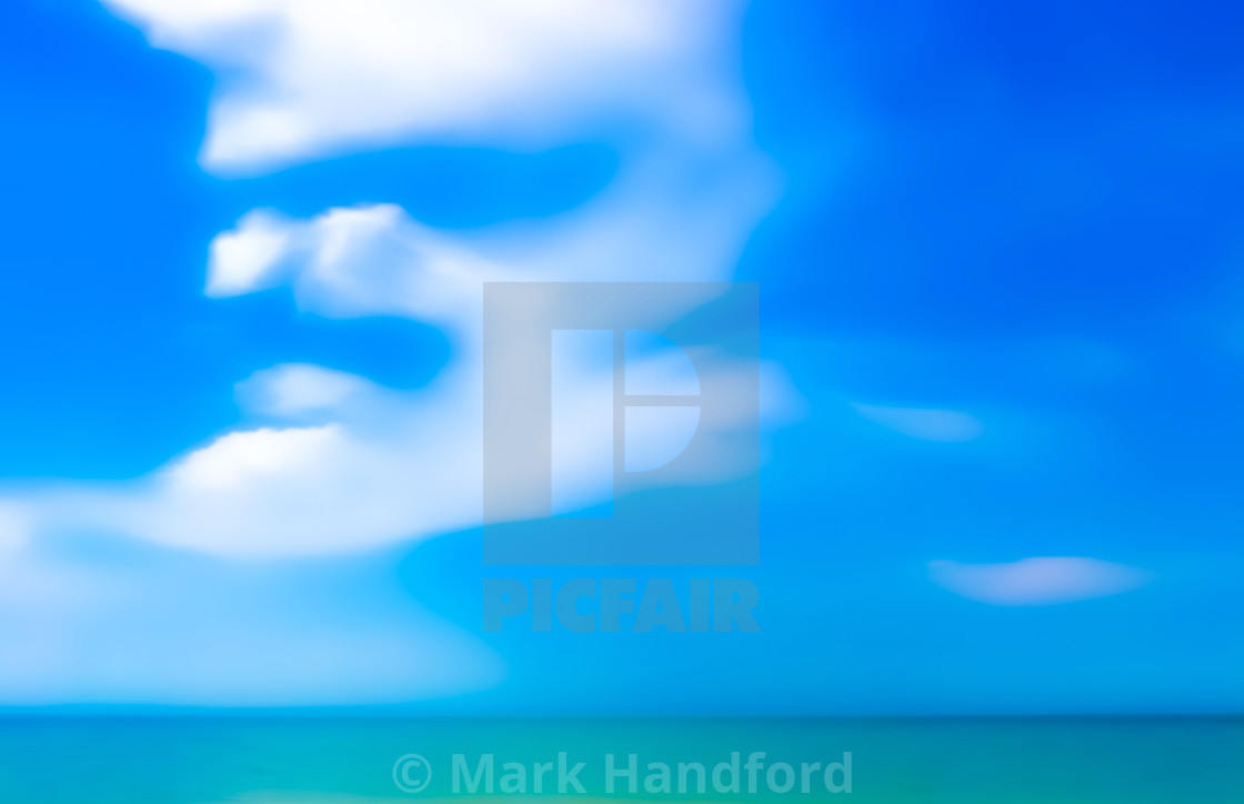 """Bermuda beach colours - photographic artwork"" stock image"