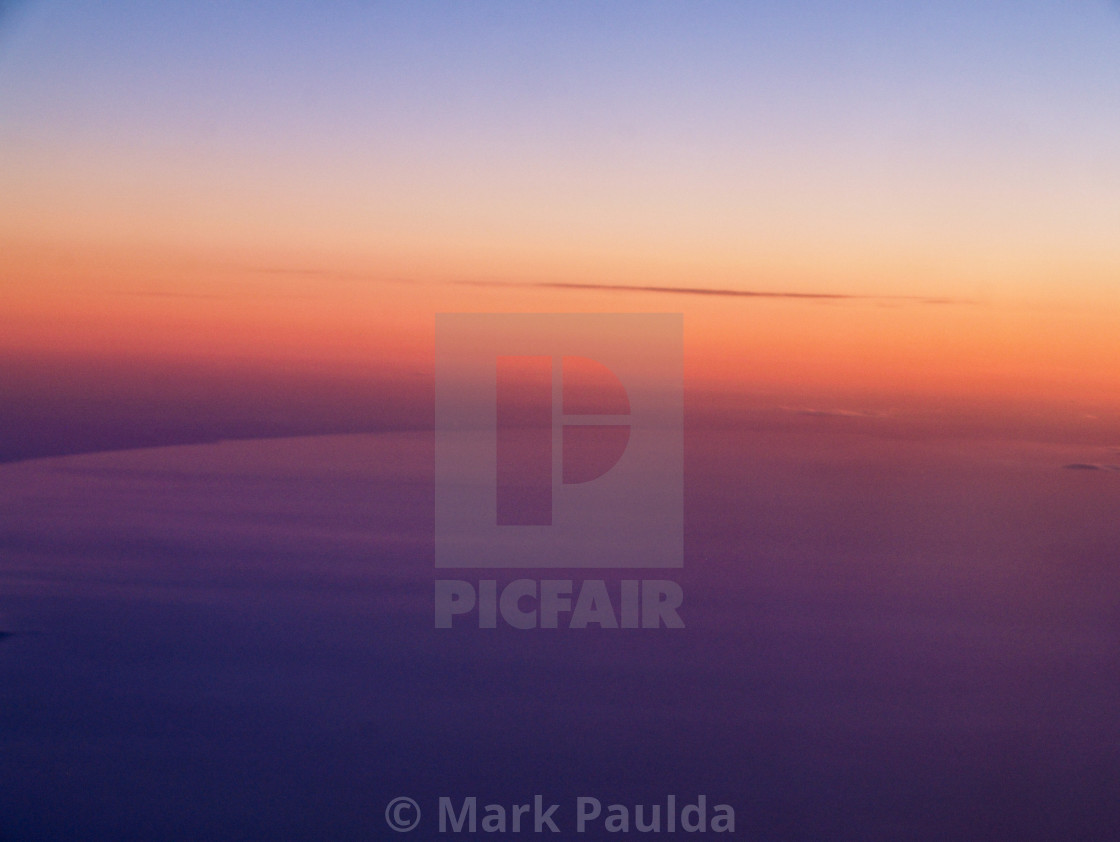 """Sunset In The Air"" stock image"
