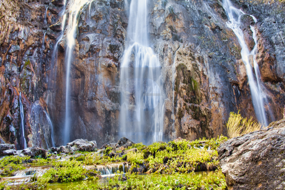 """Plitvice Lakes National Park Waterfall"" stock image"